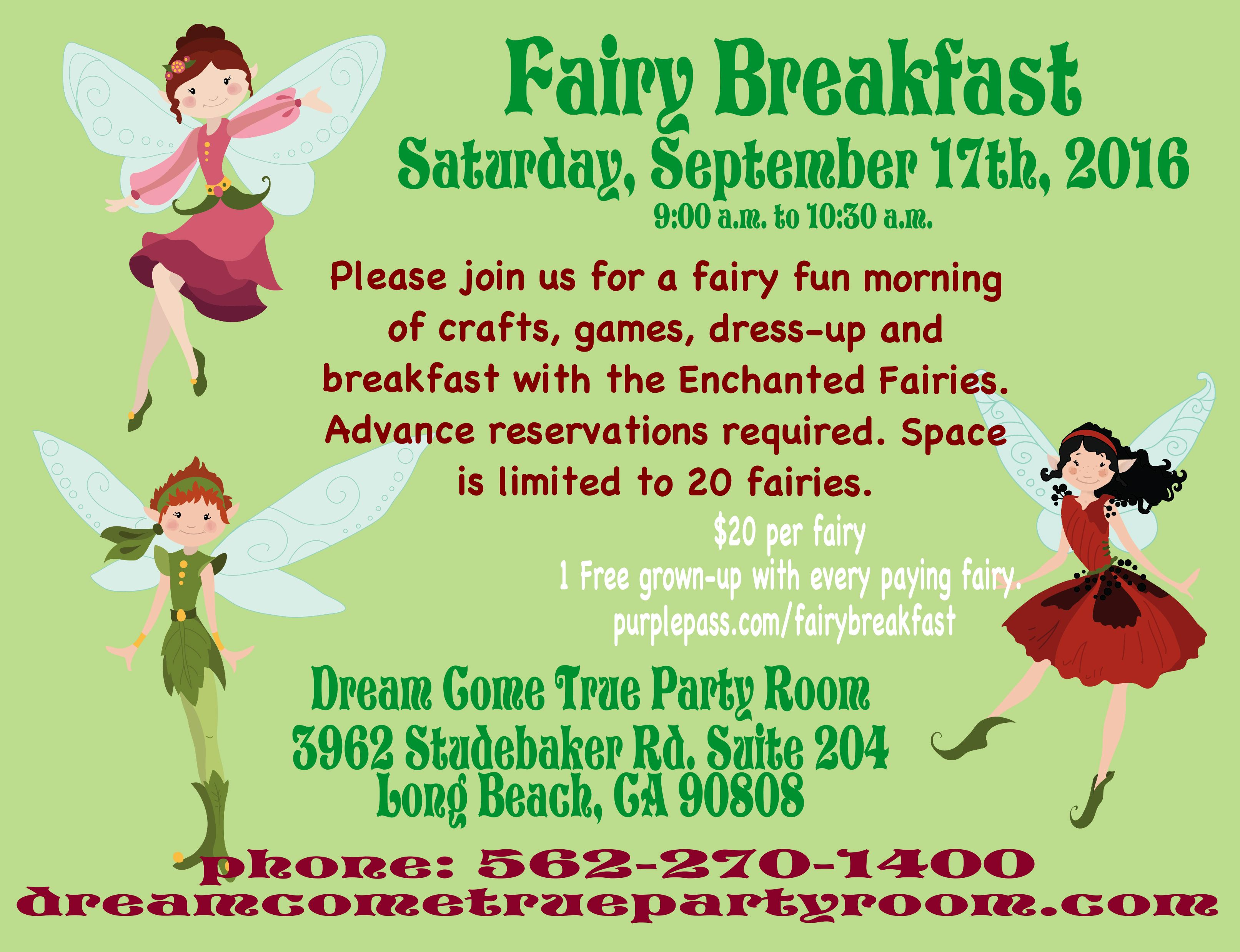 Fairy Breakfast Sept
